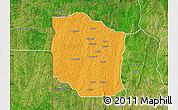 Political Map of Bante, satellite outside