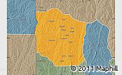 Political Map of Bante, semi-desaturated