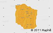Political Map of Bante, single color outside