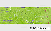 Physical Panoramic Map of Dassa