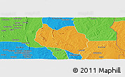 Political Panoramic Map of Dassa