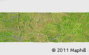 Satellite Panoramic Map of Dassa