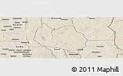 Shaded Relief Panoramic Map of Dassa
