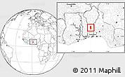 Blank Location Map of Glazoue