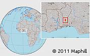 Gray Location Map of Glazoue