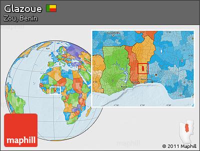 Political Location Map of Glazoue