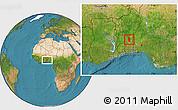 Satellite Location Map of Glazoue