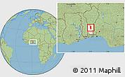 Savanna Style Location Map of Glazoue, highlighted parent region