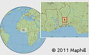 Savanna Style Location Map of Glazoue