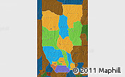 Political Map of Zou, darken