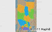 Political Map of Zou, semi-desaturated