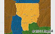 Political Map of Ouesse, darken