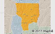 Political Map of Ouesse, lighten, semi-desaturated