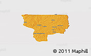 Political Panoramic Map of Ouesse, cropped outside