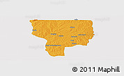 Political Panoramic Map of Ouesse, single color outside
