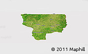 Satellite Panoramic Map of Ouesse, cropped outside