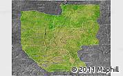 Satellite Panoramic Map of Zou, desaturated