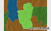 Political Map of Save, darken