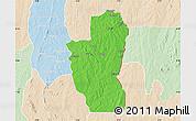 Political Map of Save, lighten