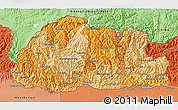Political Shades 3D Map of Bhutan