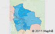 Political Shades 3D Map of Bolivia, lighten