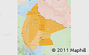 Political Shades Map of Beni, lighten