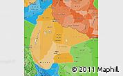 Political Shades Map of Beni