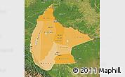Political Shades Map of Beni, satellite outside