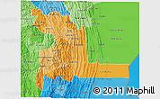 Political Shades 3D Map of Chuquisaca