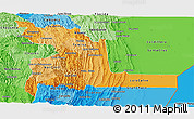 Political Shades Panoramic Map of Chuquisaca