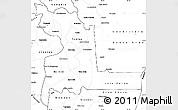 Blank Simple Map of Chuquisaca