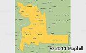 Savanna Style Simple Map of Chuquisaca
