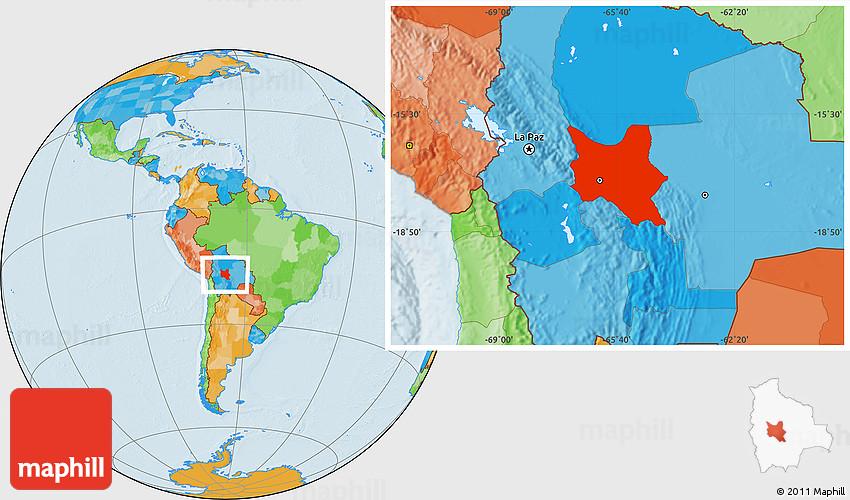 Political Location Map Of Cochabamba