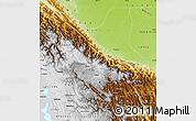 Physical Map of Cochabamba