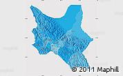 Political Shades Map of Cochabamba, cropped outside