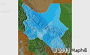 Political Shades Map of Cochabamba, darken
