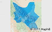 Political Shades Map of Cochabamba, lighten