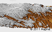 Physical Panoramic Map of Mizoque