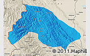 Political Map of Franz Tamayo, shaded relief outside