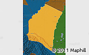 Political Map of Iturralde, darken
