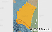 Political Map of Iturralde, semi-desaturated