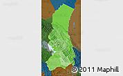 Political Shades Map of La Paz, darken