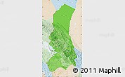 Political Shades Map of La Paz, lighten