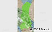 Political Shades Map of La Paz, semi-desaturated