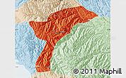 Political Map of Munecas, lighten