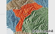 Political Map of Munecas, semi-desaturated