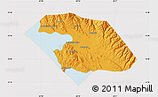 Political Map of Omasuyos, cropped outside