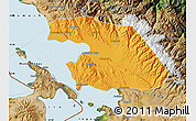 Political Map of Omasuyos, satellite outside