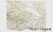 Classic Style Panoramic Map of Sud Yungas