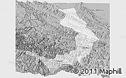 Gray Panoramic Map of Sud Yungas